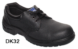 DK32 black leather executive safety shoe